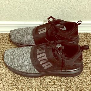 SOLD! Gray Puma Sneakers with Strap Detail